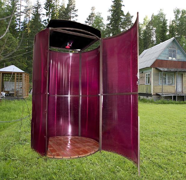 Душевые кабины из поликарбоната для дачи